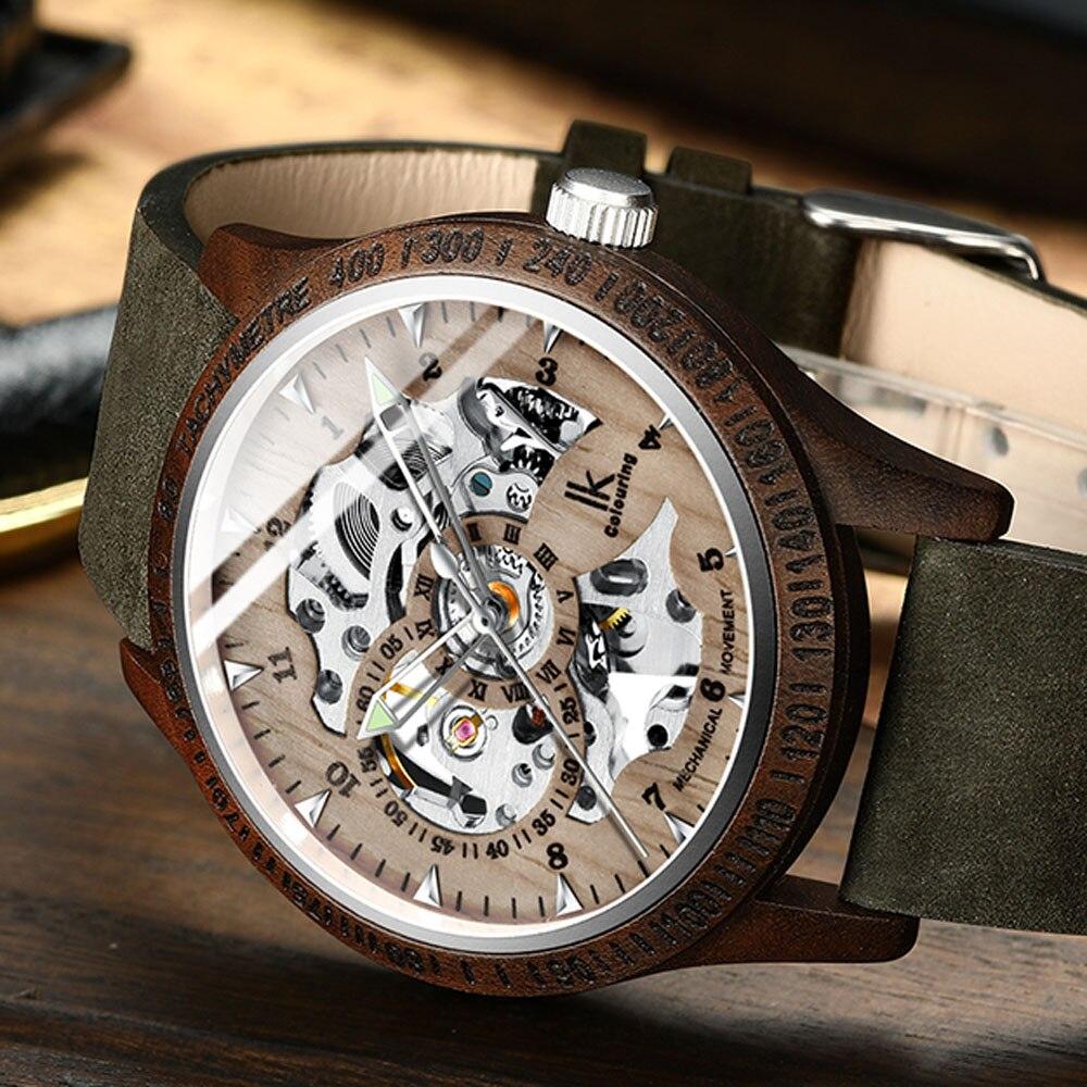 Mechanische Uhren 2019 Mode 2016 Uhren Hombre Marke Tags Gewinner Uhrmänner Lederband Mechanische Uhren Mode Lässig Männer Armbanduhr Männer Horloge