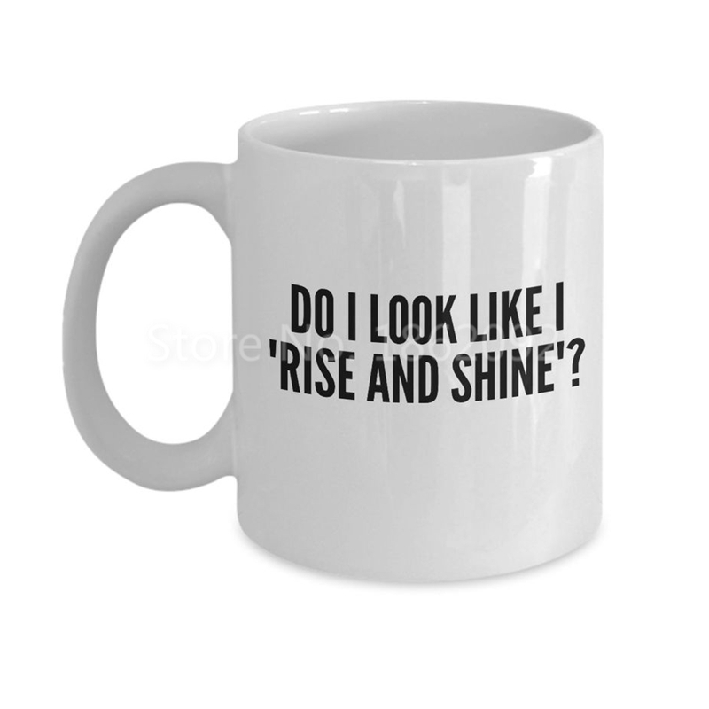 funny do i look rise and shine quote coffee mug tea cups for not