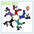 5pcs Dragonfly Rotary Tattoo Machine Shader & Liner Random Color Assorted Tatoo Motor Gun Kits Supply For Artists