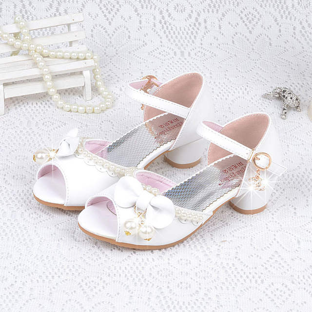 0d2592f82fe Fashion Children princess girl sandals bow tie kids wedding high heels kid  girls dance shoes party shoes for girls sandals 2017