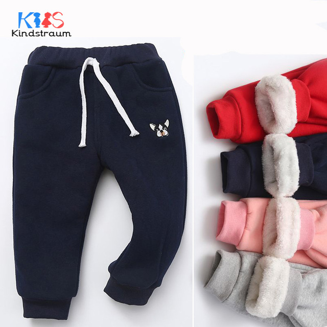44d375236 Kindstraum 2018 New Winter Baby Kids Thick Casual Pants Boys Girls Warm Harem  Pants Cartoon Toddler Child Sports Trouser, MC1018