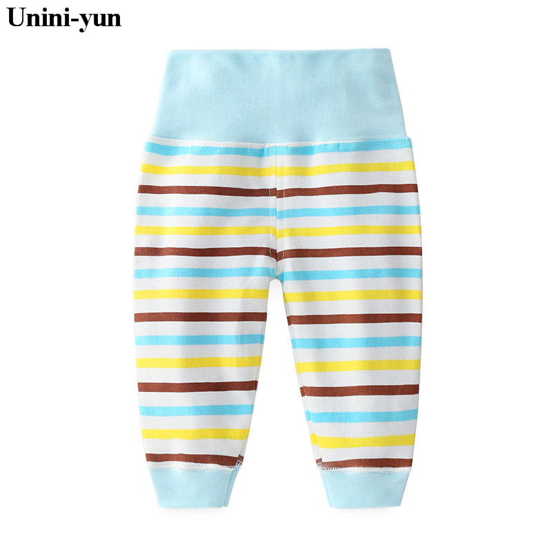 2018 Lovely Kids Baby Girls Clothes Legging striped Infant Girl Child Long blue Pants Casual Trousers born pants baby boys
