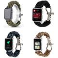 Lazer estilo corda de nylon tecido strap watch band para apple watch série 2 pulseira banda para apple watch 38mm 42mm + conectores