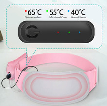 Relieve Menstrual Pain Warm Uterus Belt with Moxibustion Packs Moxa Nursing Health Care Rechargeable Heat Waist Protection Belt the latest type waist belt for health care decompression back belt relieve pain back belt inflatable waist belt for the old