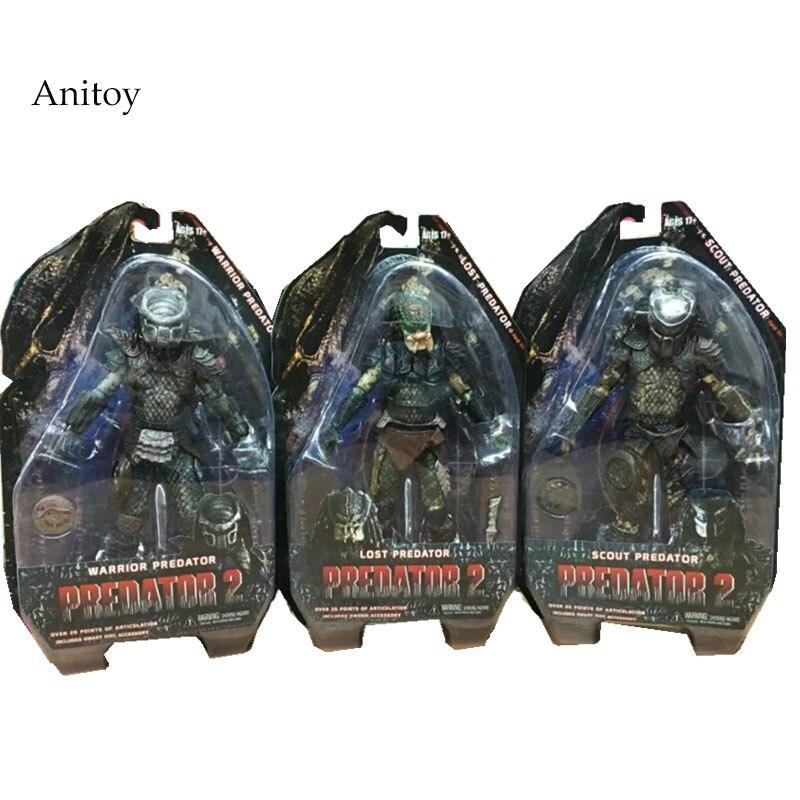 Predators 2 Warrior Predator Lost Predator Scout Predator PVC Action Figure Collectible Model Toy 7 18cm KT2448 цена