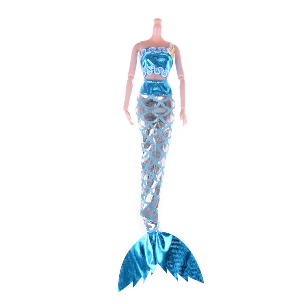 1 Juego para muñeca ropa de natación regalo para niños mejor muñeca Cosplay princesa muñeca vestido de fiesta vestido falda sirena vestido