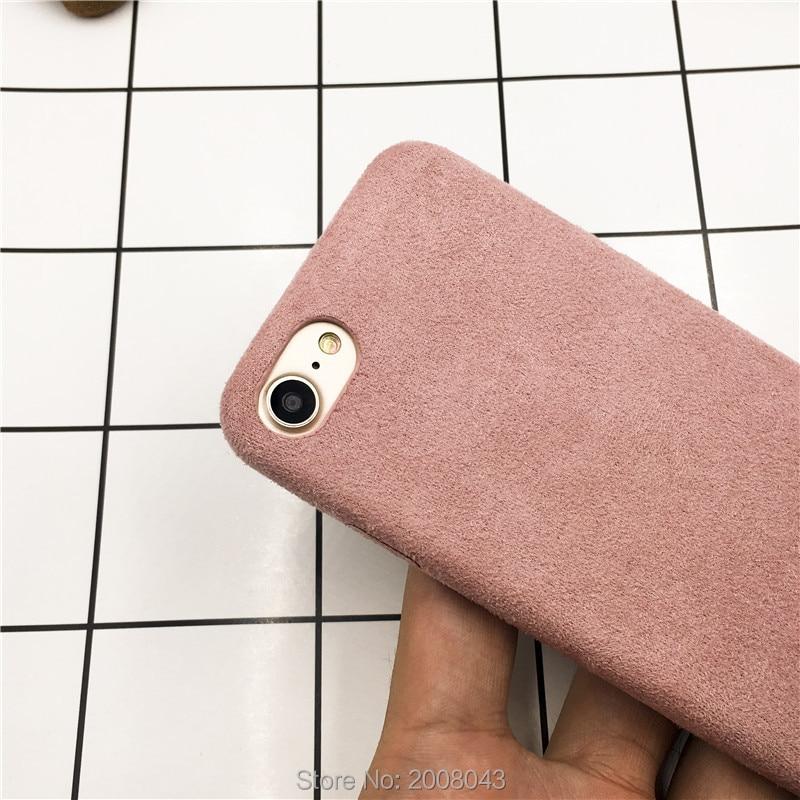 LUDI շքեղ Nubuck Suede կաշվե տուփ iphone 5 / 5s / SE / 6 - Բջջային հեռախոսի պարագաներ և պահեստամասեր - Լուսանկար 3