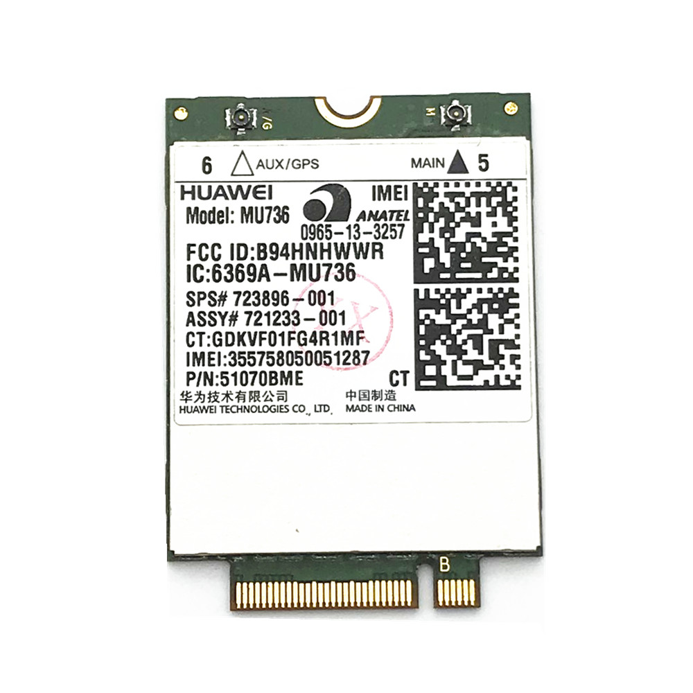 Huawei MU736 3G WWAN Card Module For <font><b>HP</b></font> ProBook 430 440 640 645 650 655 <font><b>G1</b></font> ZBook 17 EliteBook <font><b>850</b></font> 820 <font><b>G1</b></font> image