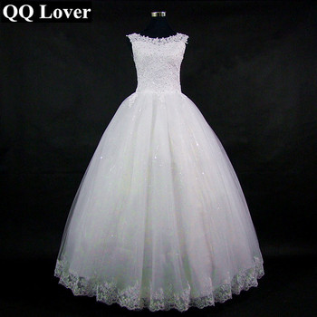 2019 Beautiful Appliques Vestido De Noiva Elegant Custom-Made Ball Gown Wedding Dress Bridal Gowns Robe De Mariage