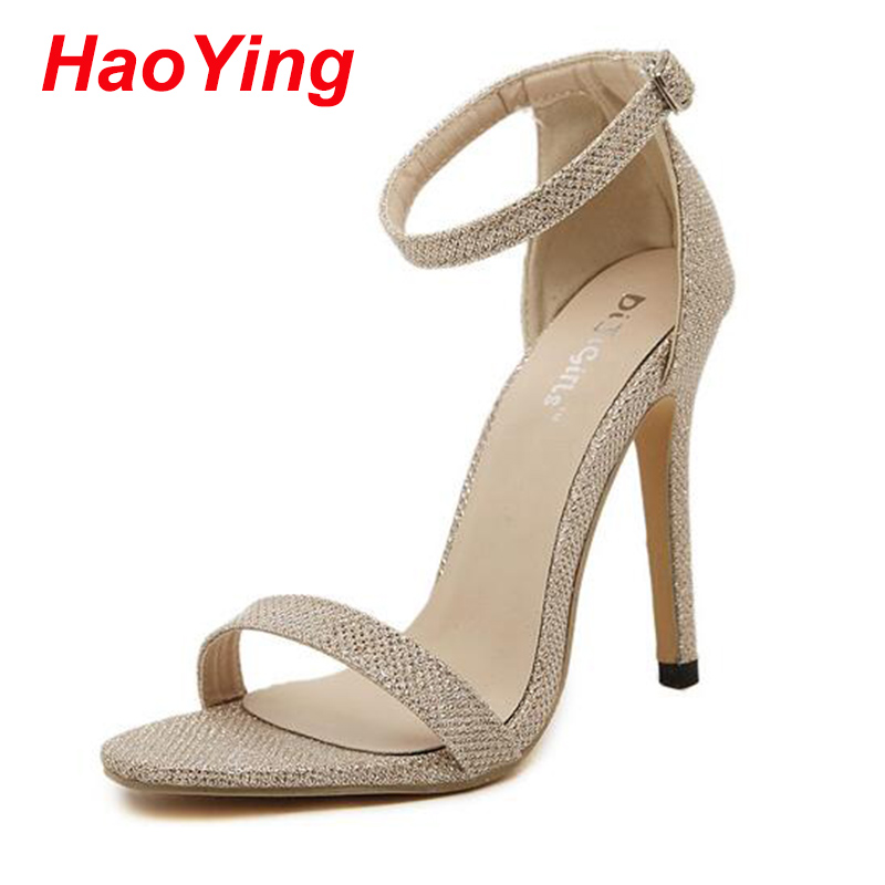 Online Get Cheap Silver Strappy High Heels -Aliexpress.com ...