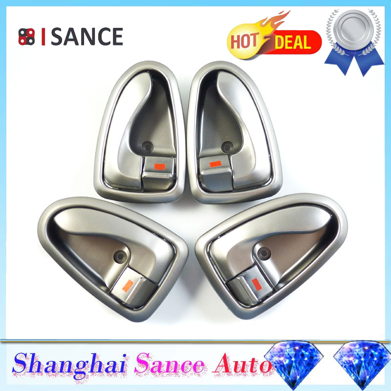 Isance Silver Inner Inside Door Handle Front Rear Left Right Side For Hyundai Accent 2000