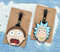 IVYYE Rick Scientist Anime Travel Accessories Luggage Tag Morty Suitcase ID Address Portable Tags Holder Baggage Label New
