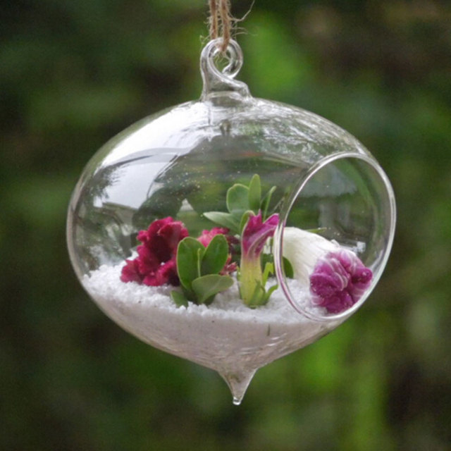 Cheap Glass Vases Hanging Flower Vases Wedding Decoration Home