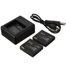 1010 mah batería de li-ion + cargador de batería + cable usb para xiaomi yi xiaoyi deportes cámara