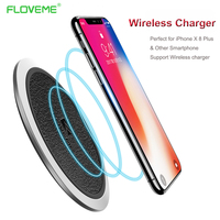 FLOVEME Wireless Charger For IPhone X 8 Samsung Galaxy Note 8 S8 Plus S7 S6 Google
