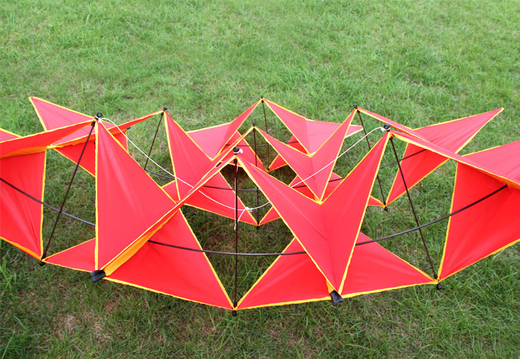 Kite Red Diamonds Pipas Com Ferramentas de Vôo Praia kite flying