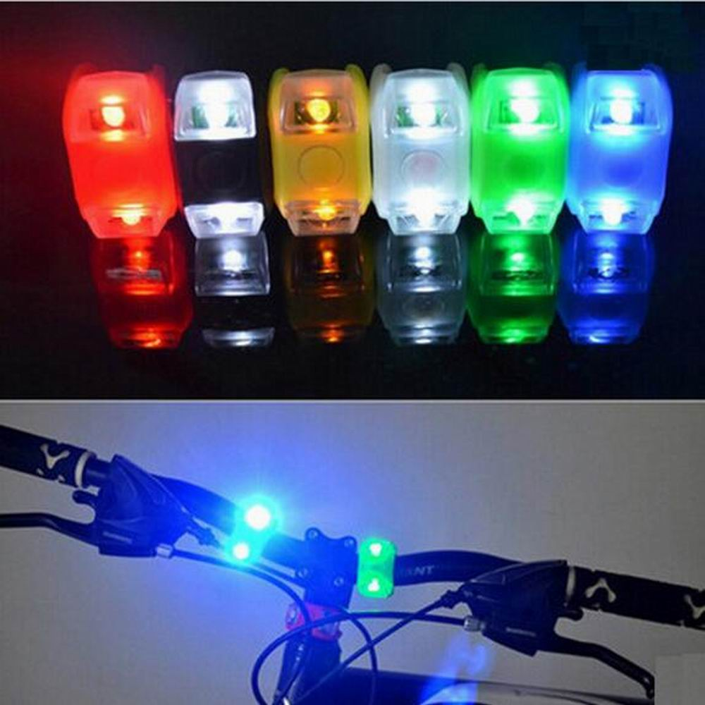 LED Waterproof Bike Bicycle Cycling Front Rear Tail Helmet Red Flash Lights Safety Warning Lamp Safety Caution Light Accessories