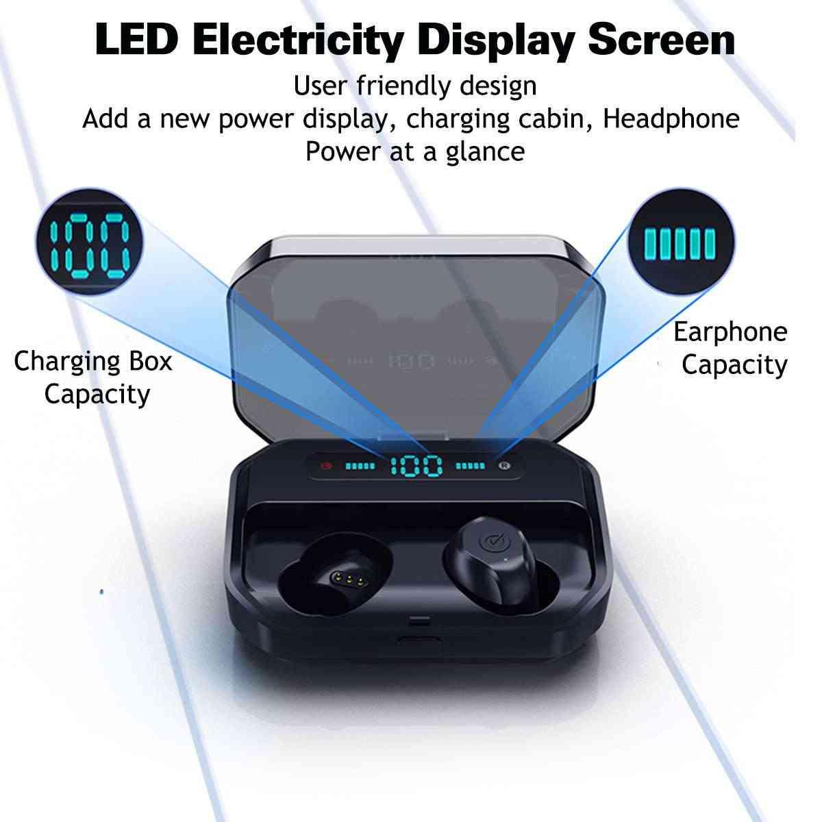 Bluetooth TWS 5.0 tura bezprzewodowe słuchawki minisłuchawki bezprzewodowe stereofoniczne IPX7 sportowe pływanie zestaw słuchawkowy 3500mAh skrzynka ładująca