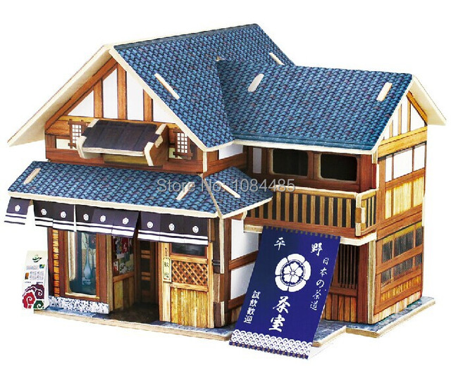 japan traditional architecture model building kits diy 3d wooden