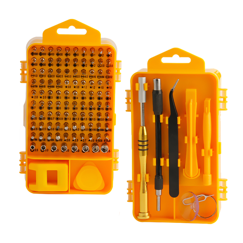 108 Stk Precision Skruvmejsel Set CR-V Magnetbitar Mobiltelefon Laptop Reparationsverktyg Set Multitool Hand Tools Kit