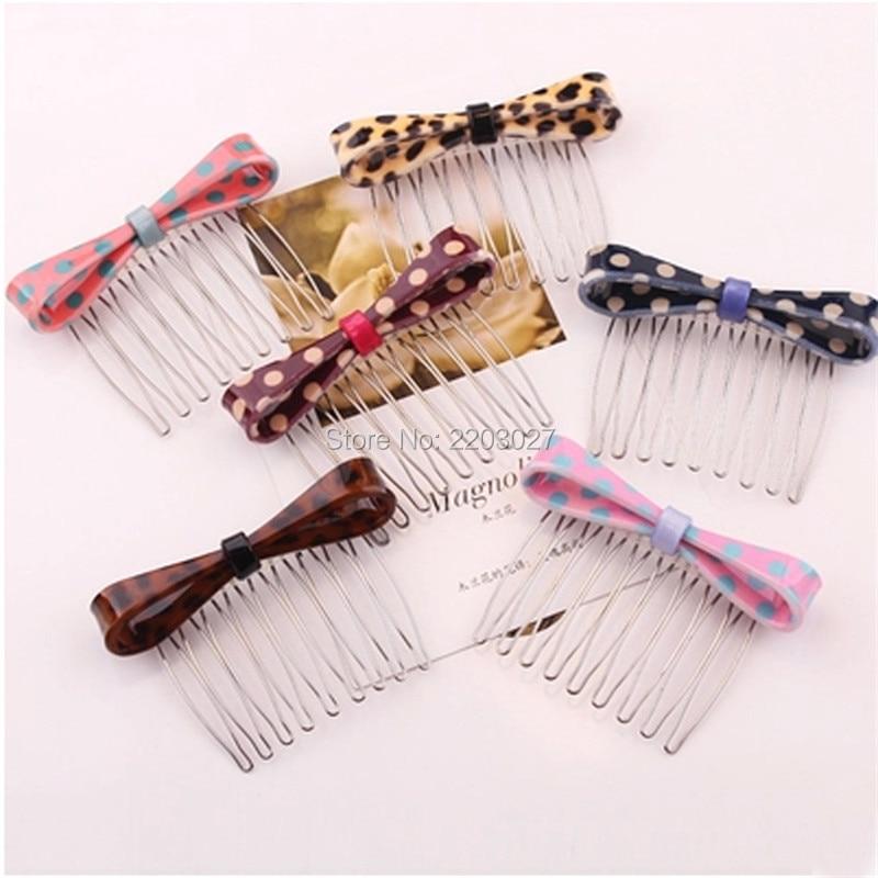 font b Women b font Girls Hair Ornaments Fresh Ftyle Leopard Bow Hairpins Hair Combs