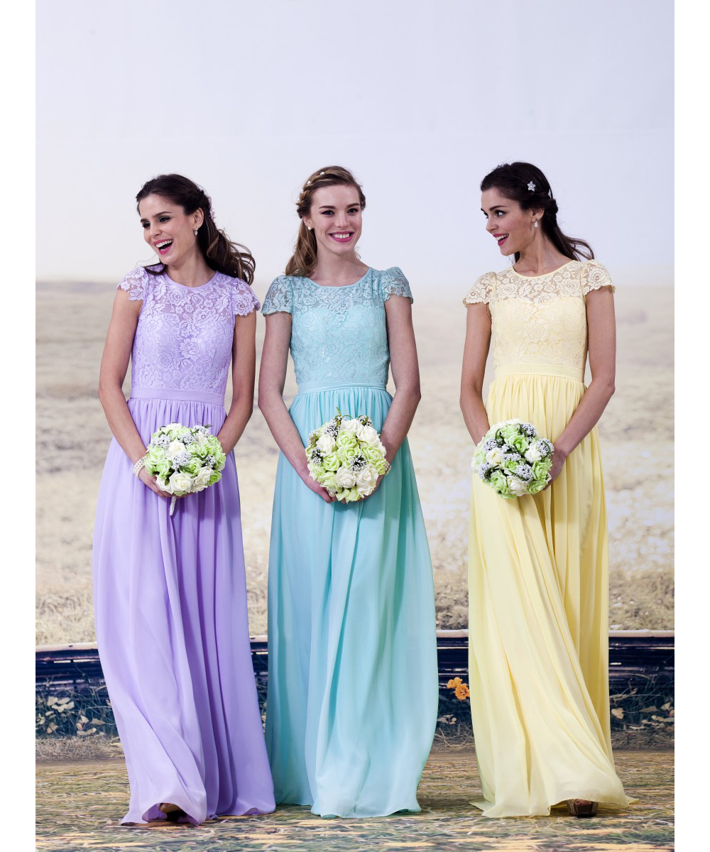 Fairy bridesmaid dresses 2016 light sky bluelavenderyellow fairy bridesmaid dresses 2016 light sky bluelavenderyellow bridesmaid dresses long summer style scoop button back in bridesmaid dresses from weddings ombrellifo Images