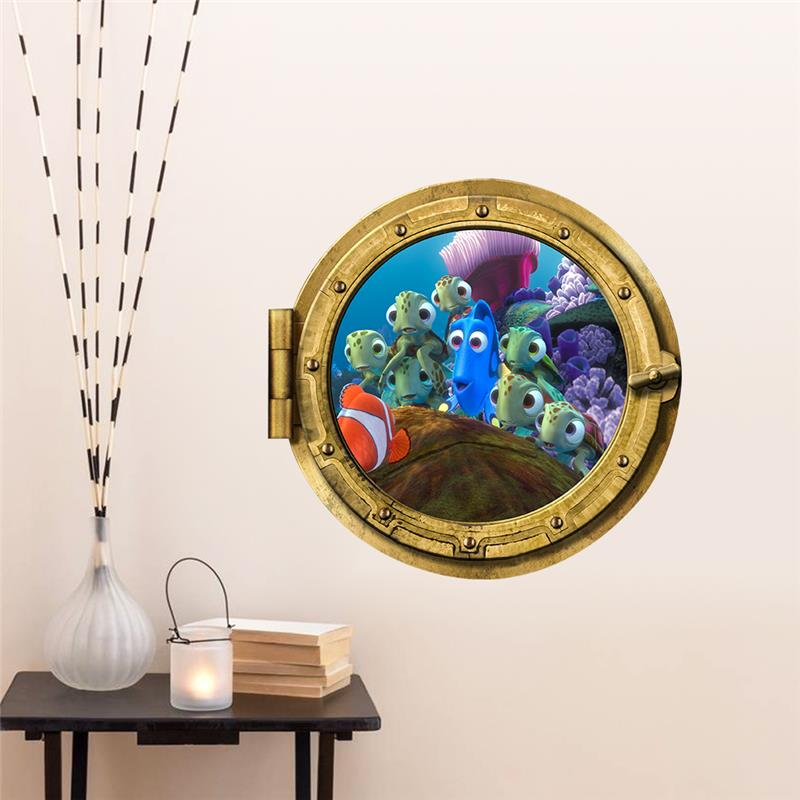 Find Dory Colorful Sealife Fish Wall Stickers For Kids Room Decoration Diy 3d Windows Wall Decals Art Removable