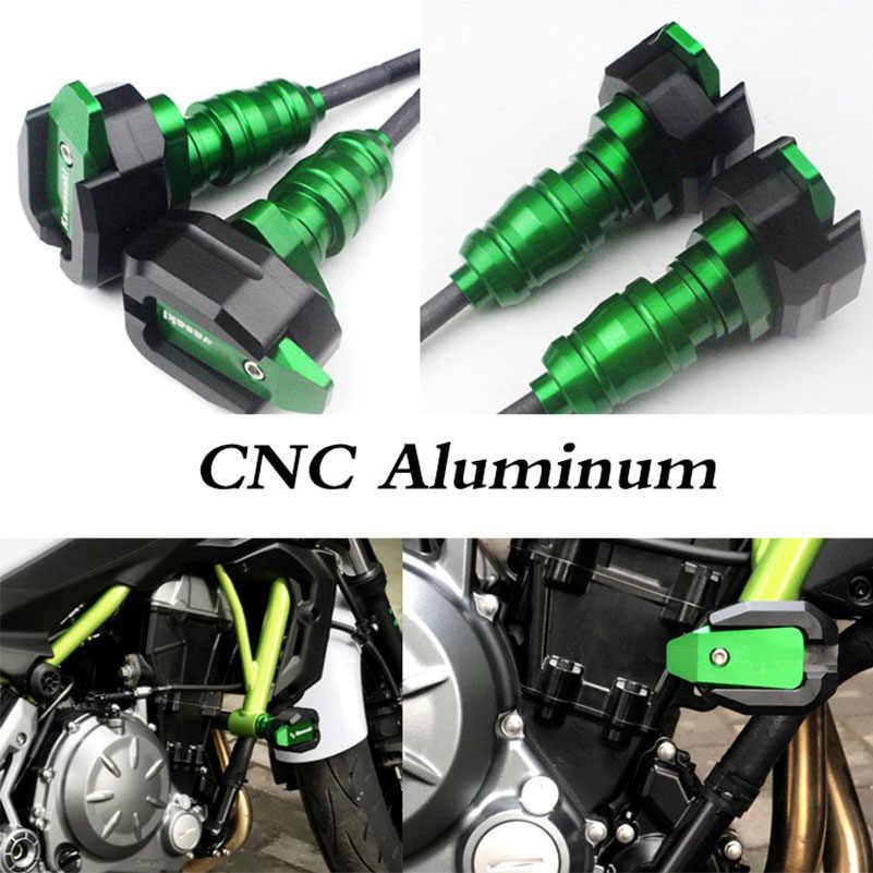CNC Frame Sliders Crash Falling Protector For Kawasaki Z900 Z900RS 2017-2020