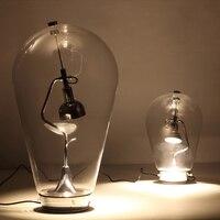 Современный минималистский дизайн магнит регулировки прозрачное стекло настольная лампа Nordic Творческий светодиодный затемнения спальня
