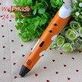 Diy 1.75mm abs/pla smart 3d pluma impresión 3d pen + filamento + Adaptador Fabricante De La Pluma Creativa de Regalo Para Niños de Diseño de Pintura dibujo