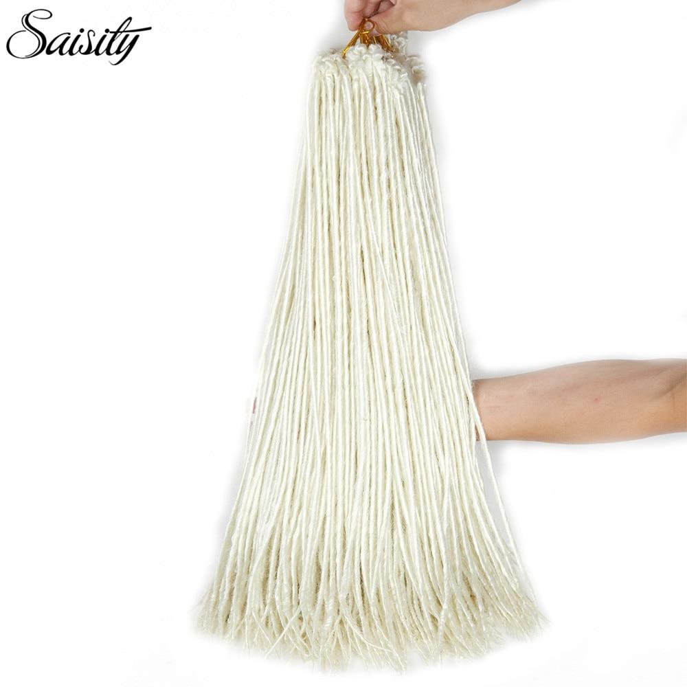 Saisity Rubio Faux LOCs crochet cabello sintético dreadlocks crochet ...