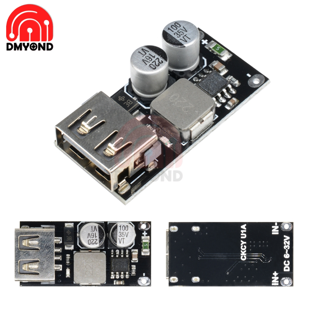 QC3.0 QC2.0 DC-DC Buck Converter Charging Module USB 6-32V 9V 12V 24V to Fast Quick Charger Circuit Board  3V 5V 12V Step down