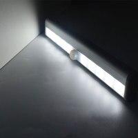 Движения Сенсор детектор Светодиодный Ночник Батарея работает Беспроводной гардероб света шкафа Кухня ящик Ночная лампа