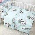 3pcs/set new design baby bedding set crib cotton bedding set Indian Panda pattern for baby girls and boys
