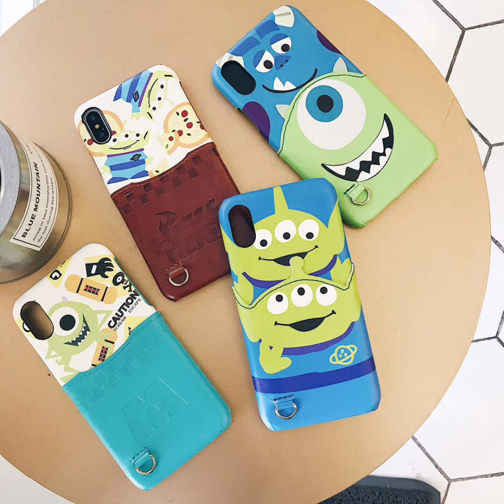 maosenguoji Card pocket cute cartoon MR.Q mike funny Mobile Phone Case for iphone 6 6s 7 8 plus X XR XS MAX fashion Couple case