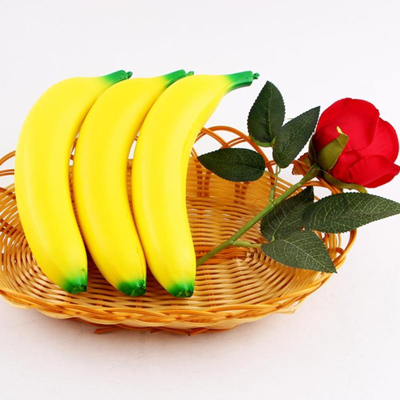 Cute Simulation Banana Decompress Squeeze Slow Rising Fruit Straps Pendant Squeeze Stress Stretch Kids Fun Toys Gift