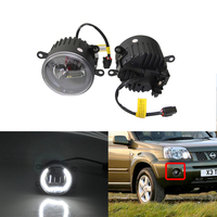 New Front Led Fog Light Assembly Kit W/ Guide DRL Halo Rings For Nissan NAVATA X TRAIL X TREEA Pathfinder Car Styling Car Lights