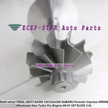 Turbo rotor assembly turbine shaft wheel TD04L 49377-04300 Turbocharger For SUBARU FORESTER Impreza 97- WRX-NB 58T EJ205 2.0L