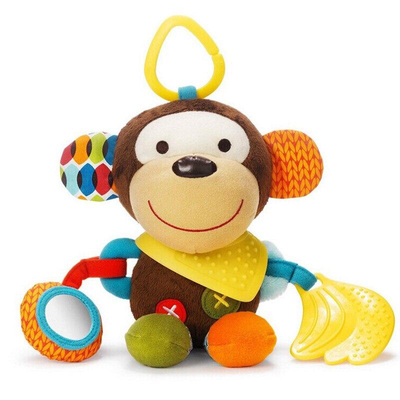 Подарок для ребенка милые обезьяны новый младенческая toys mobile детские плюшевые игрушки кровать ветер куранты погремушки колокол игрушка коляска для новорожденных