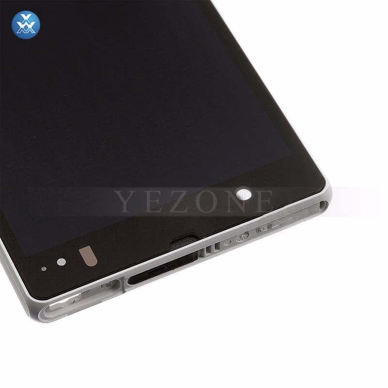 Sony Xperia Z L36h LCD & Digitizer Assembly with Frame - WHITE (6)