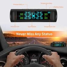 ZEEPIN система контроля давления в шинах Солнечная TPMS цифровой ЖК-дисплей Автоматическая охранная сигнализация s с 4 внешними датчиками