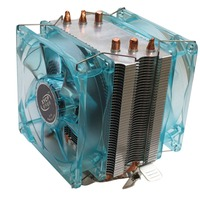 Professional Dual Fan CPU Cooler Heat Sink Radiator With LED Light Mute Version Suitable For Intel