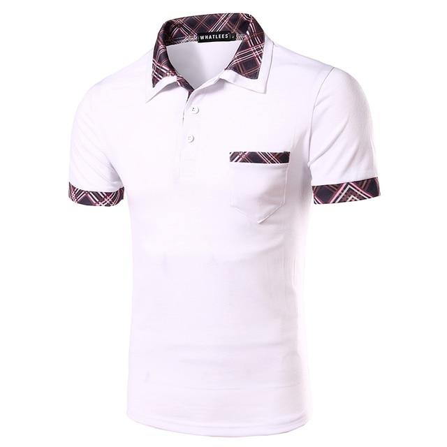 Men's Short Sleeve  Polo Shirt Casual Short Sleeve Slim New Fashion Brand Men's Tops Tees Solid Short Men Cotton Shirt PDT07