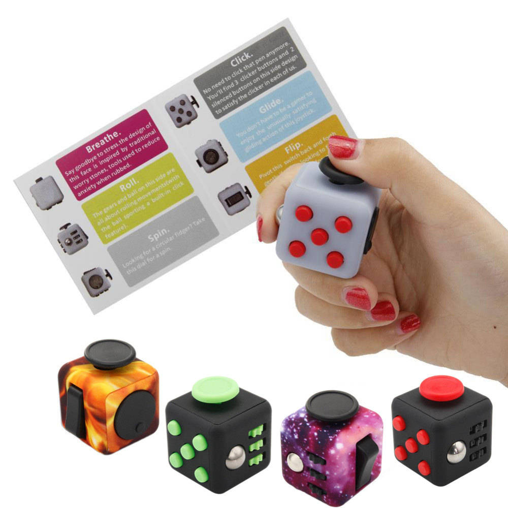 Original Fidget Cube Toy 3.3cm Vinyl Desk Finger Toys Squeeze Fun Stress Relief Maigic Cubo Toy for Adults Kids Christmats Gifts new e zinc alloy cube hand spinner toys edc fidget cube spinner for autism and adhd anxiety stress kids adults gifts toupie anti