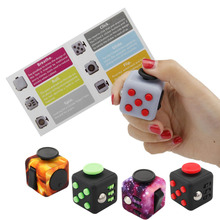 Original Squeeze Finger Fidget Cube Antistress Puzzle Toy Vinyl for Adults Kids Magic Cubo Fun Colorful Toy Squeeze Toys
