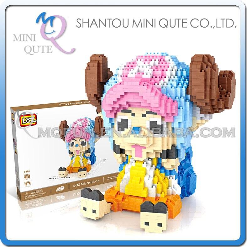 Mini Qute LOZ anime une pièce Chopper dessin animé enfants diamant en plastique cube blocs de construction briques dessin animé animal jouet éducatif