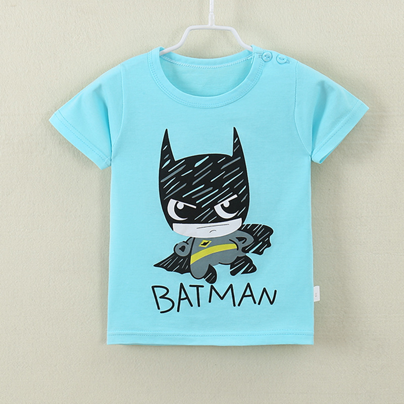 2018 New Fashion Cartoon 100% Cotton Short Sleeve Children Kids T-shirts 2-7 Years Boys Girls Tshirts Baby Girls Clothes