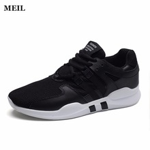 где купить Men Shoes 2017 New Arrival Fashion Mesh Breathable Spring/Autumn Casual Shoes For Men Laces Plus Size 39-44 Lazy Male Shoes дешево
