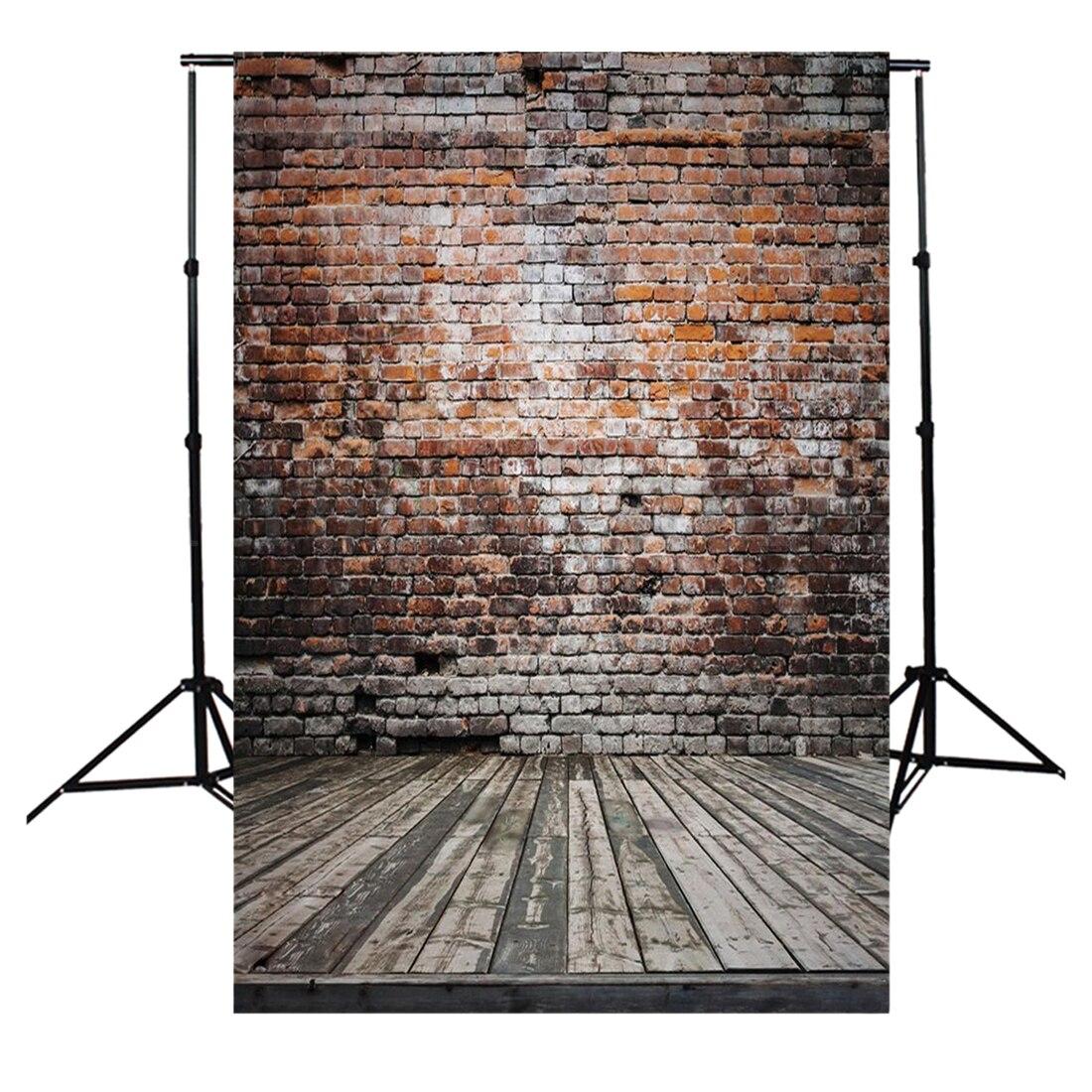 5x7FT Vinyl Photography Backdrop Photo Background, Old brick wall wood floor 10ft 20ft romantic wedding backdrop f 894 fabric background idea wood floor digital photography backdrop for picture taking