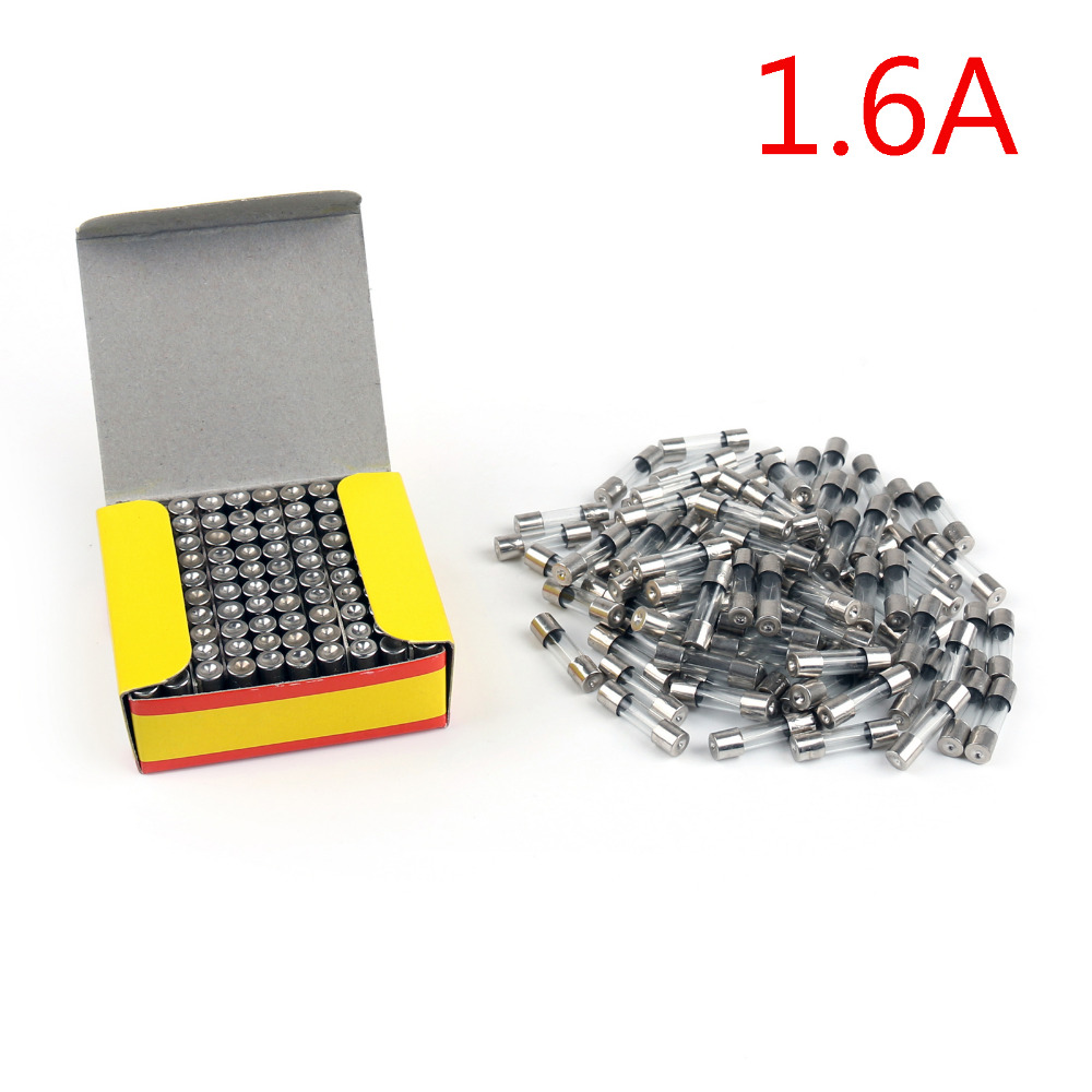 Areyourshop Sale 1000Pcs/pack 5 x 20mm 250V Glass Fuse Quick Blow Acting Fuse Fast-Blow Glass Fuse 1.6A rgs4b 315a fast fuse rgs4b 315a 660gh fast acting fuse